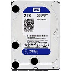 Western Digital 3.5″ WD Blue PC Desktop Hard Drive 2TB WD20EZAZ