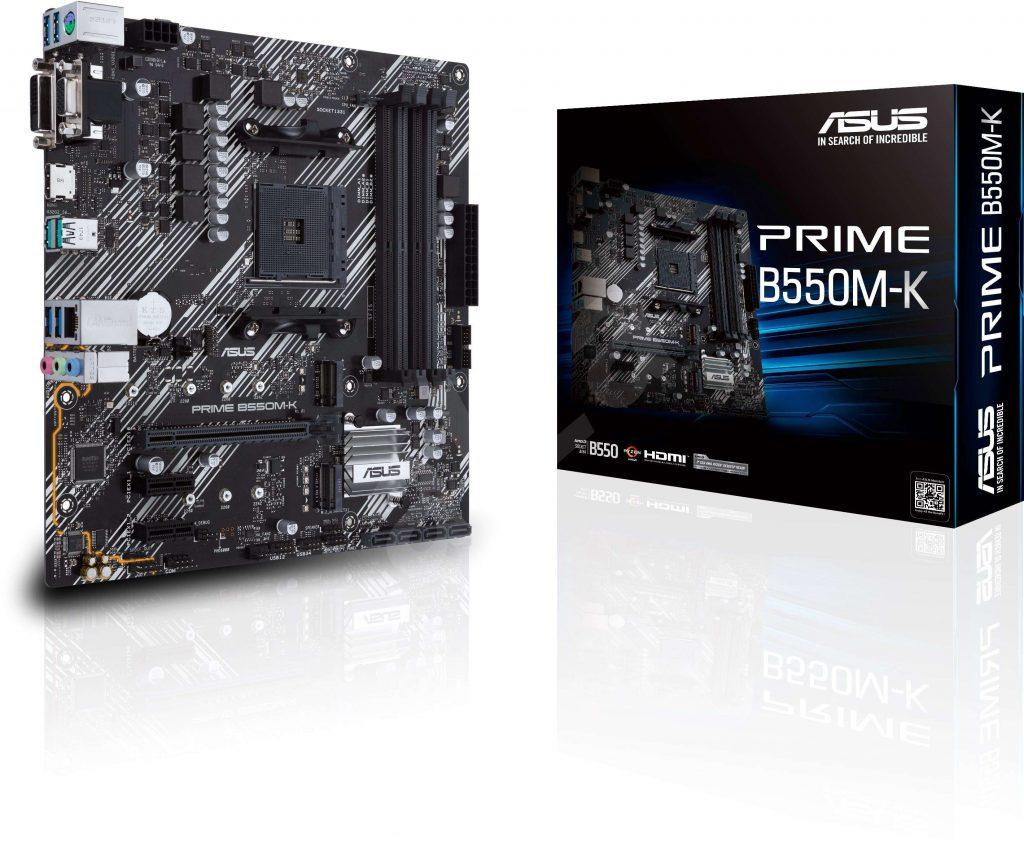 ASUS 主機板 PRIME B550M-K, AMD®B550, AM4, mATX (MB-BB55PMK)