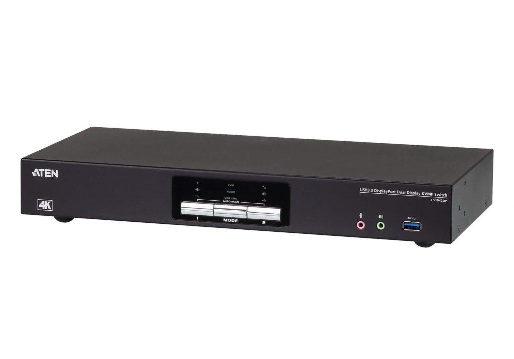 ATEN 2 埠USB 3.0 4K DisplayPort 雙螢幕KVM多電腦切換器 (CS1942DP)